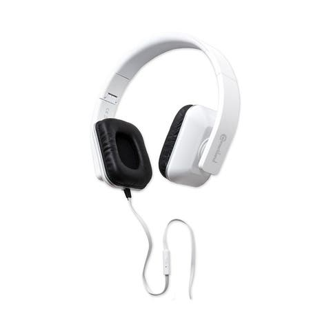Syba CL-AUD63089 White Foldable Stereo Headset with Inline Controls