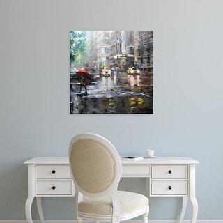 Easy Art Prints Mark Lague's 'Manhattan Red Umbrella' Premium Canvas Art