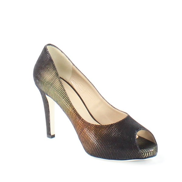 Ron White NEW Black Bonnie Shoes 9.5M Ombre Open Toe Suede Heels