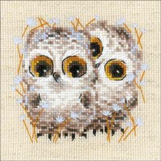"""Little Owls (14 Count) - Riolis Counted Cross Stitch Kit 5""""X5"""""""