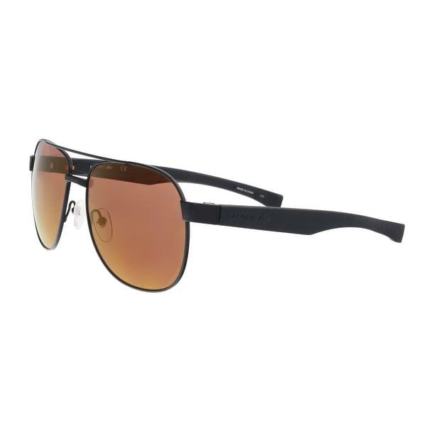 d15f1d6cc43 Lacoste L186S 001 Black Matte Modified Rectangle Sunglasses - 57-16-140
