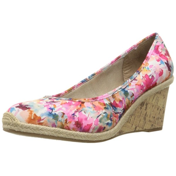LifeStride Womens listed Closed Toe Wedge Pumps, Pink/Multi, Size 10.0