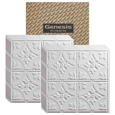 Genesis Antique White 2 x 2 ft. Lay-in Ceiling Tiles
