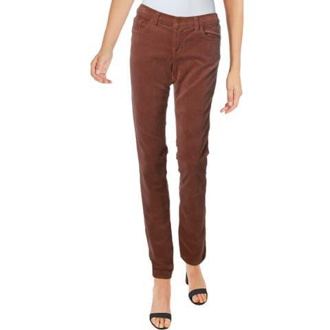 J Brand Womens Pencil Pants Corduroy Low Rise - Henna