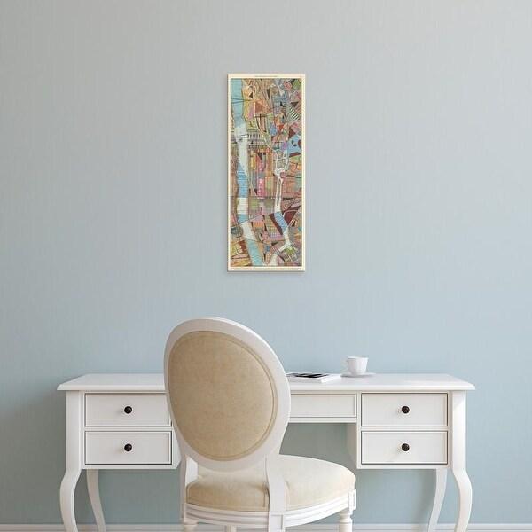 Easy Art Prints Nikki Galapon's 'Modern Map of New York III' Premium Canvas Art