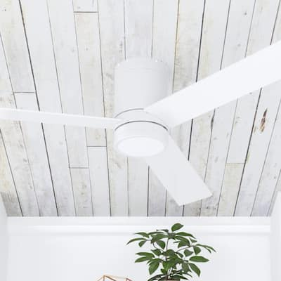 Prominence Home Espy White 52-inch Hugger/Low Profile Ceiling Fan