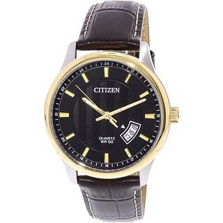 Citizen Men's Silver Leather Japanese Quartz Fashion Watch