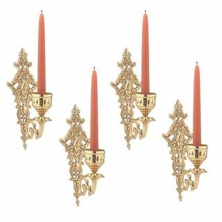 4 Candle Wall Sconces Bright Cast Brass Medusa Set of 4 Renovator's Supply