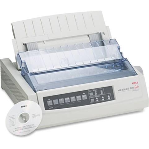 Okidata 62411601 microline 320 turbo - personal - monochrome - dot-matrix - 435 cps(super draft), - White