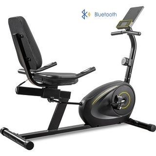 Link to Recumbent Exercise Bike with Bluetooth Monitor, Easy Adjustable Seat Similar Items in Cardio Equipment