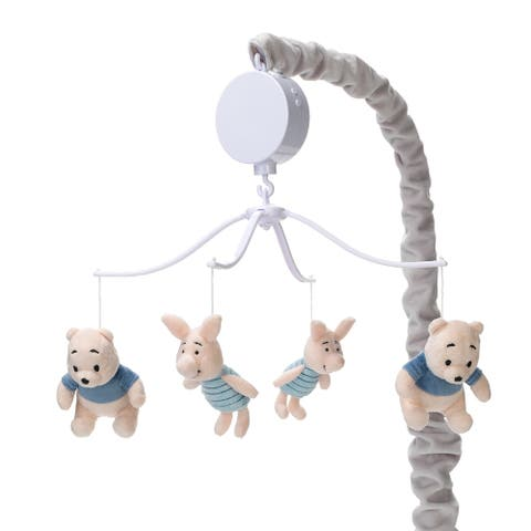 Disney Baby Forever Pooh Gray/Beige Bear Musical Baby Crib Mobile by Lambs & Ivy