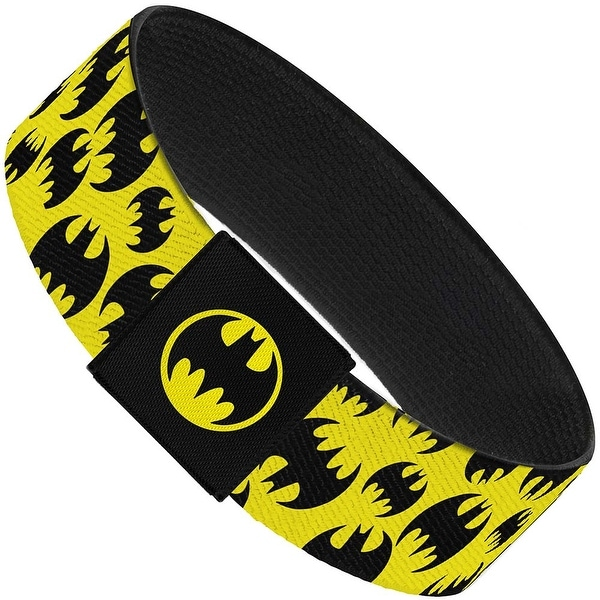 Multi Bat Signals Scattered Yellow Black Elastic Bracelet