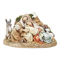 "9.5"" Beige and Brown Restful Holy Family Christmas Table Top Decoration"