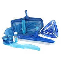 HydroTools Premium Swimming Pool Cleaning  and Maintenance Kit with Test Strips - Blue