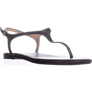 Splendid Mason Buckle T Strap Flat Sandals, Black
