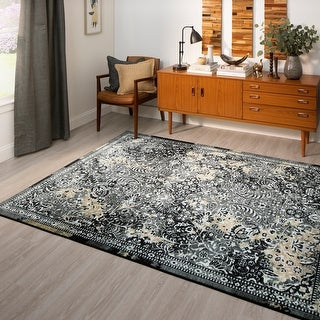 Link to Mohawk Home Charcoal Garden City Area Rug Similar Items in Rugs