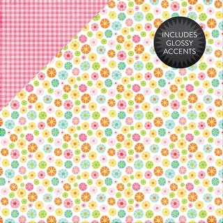 """Celebrate Spring Glossy Accent Double-Sided Cardstock 12""""X12-Blooming Flowers"""