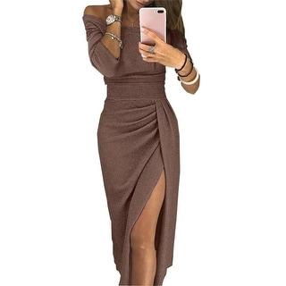 Link to Women's Bag Hip Open Collar Dress Similar Items in Dresses