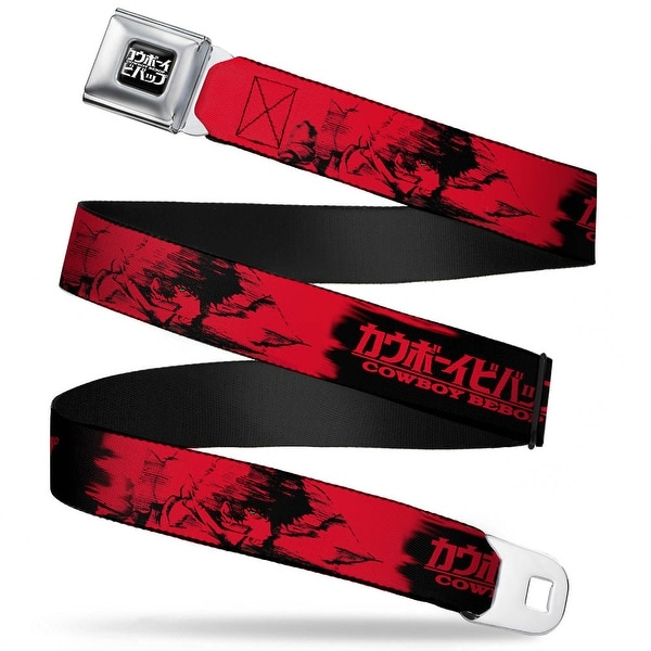 Cowboy Bebop Logo Full Color Black White Cowboy Bebop Spike Siegel Side Seatbelt Belt