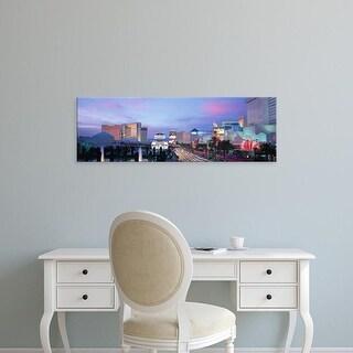 Easy Art Prints Panoramic Images's 'The Strip, Las Vegas, Nevada, USA' Premium Canvas Art