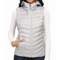 The North Face Silver Womens Size Large L Puffer Hood Vest Jacket