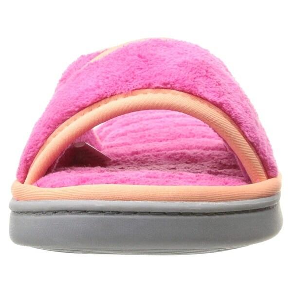 1eca0b22270 Shop Dearfoams Women s Microfiber Terry Open Toe Scuff Slipper - Free  Shipping On Orders Over  45 - Overstock - 27593453