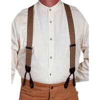 Scully Western Suspenders Mens Classic Adjustable Elastic Black - One size