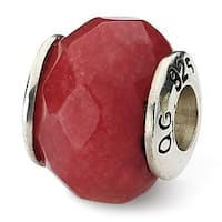 Sterling Silver Reflections Red Quartz Stone Bead (4mm Diameter Hole)