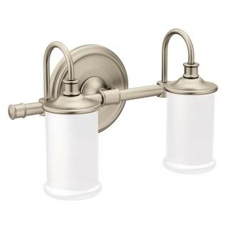 Moen YB6462 Belfield 2 Light Reversible Bathroom Vanity Light with Frosted Shade
