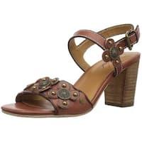 Patricia Nash Womens Leona Leather Open Toe Casual Slingback Sandals