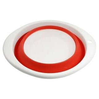 """Unique Bargains Unique Bargains 9.1"""" Diameter White Red Plastic Fishing Tackle Bait Tray Pot Bowl"""