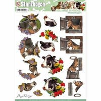 Find It Trading Amy Design Animal Medley Punchout Sheet, Horse
