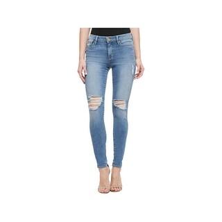 Sanctuary Denim Womens Robbie Skinny Jeans Distressed High Rise