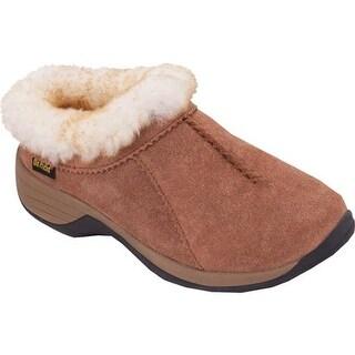 Old Friend Women's Snowbird II Clog Slipper Chestnut Leather