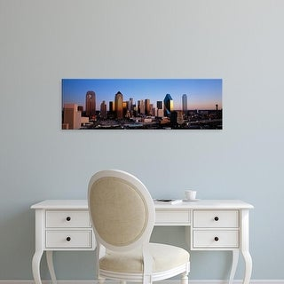 Easy Art Prints Panoramic Images's 'USA, Texas, Dallas, sunrise' Premium Canvas Art