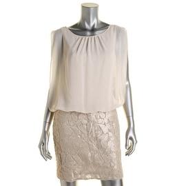 Aidan Mattox Womens Sequined Sleeveless Party Dress