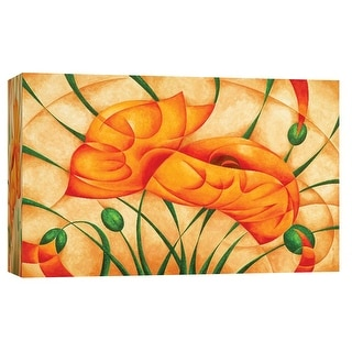"""PTM Images 9-101695  PTM Canvas Collection 8"""" x 10"""" - """"Poppies III"""" Giclee Poppies Art Print on Canvas"""