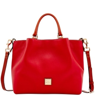 Dooney & Bourke Pebble Grain Large Barlow (Introduced by Dooney & Bourke at $348 in Aug 2017) - Red