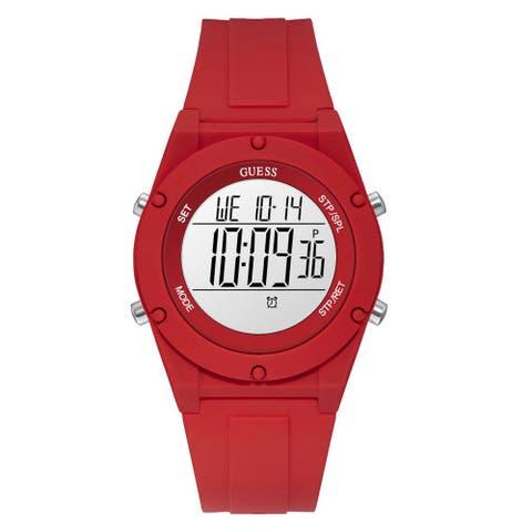 Guess Women's Digi Pop U1282L3 Red Silicone Quartz Fashion Watch - Multi