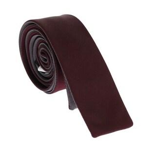 Dolce & Gabbana Bordeaux Silk Slim Tie - One size