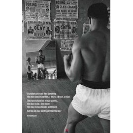 ''Muhammad Ali in Gym with Mirror'' by Anon Celebrities Art Print (36 x 24 in.)