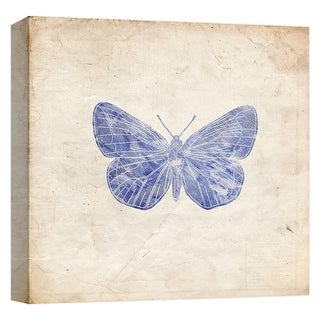 """PTM Images 9-124638  PTM Canvas Collection 12"""" x 12"""" - """"Lavender Butterfly"""" Giclee Butterflies Art Print on Canvas"""