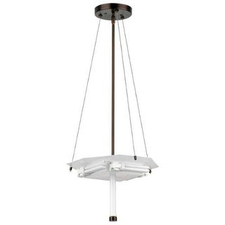 Forecast Lighting F43070U A La Carte 4 Light ADA Compliant Pendant from the Taylor Collection - Base Only - merlot bronze