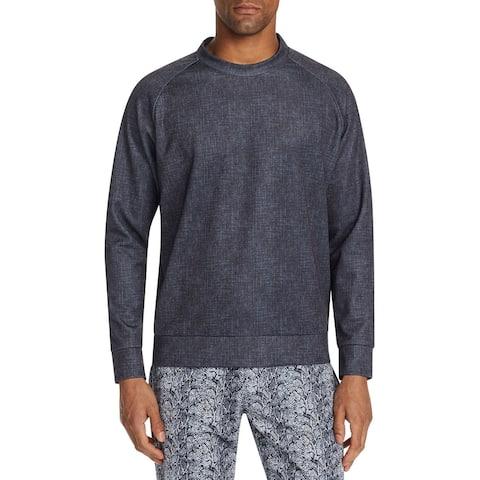 Tallia Mens Sweatshirt Mock-Neck Stretch Pullover