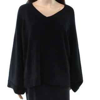 MICHAEL Michael Kors NEW Black Women's Size Large L Soft V-Neck Sweater
