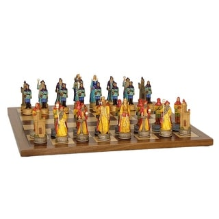 Sorcerer Resin Chess Set With Walnut/Maple Board - Multicolored