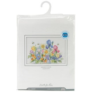"""Garden Flowers Counted Cross Stitch Kit-13.75""""X9.75"""" 16 Count"""