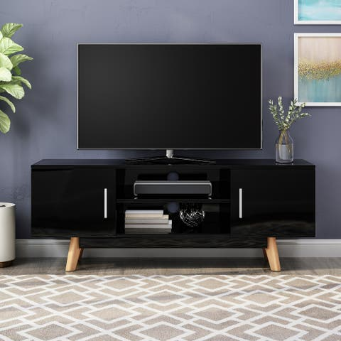 Ariade Mid-century Faux Wood TV Stand by Christopher Knight Home