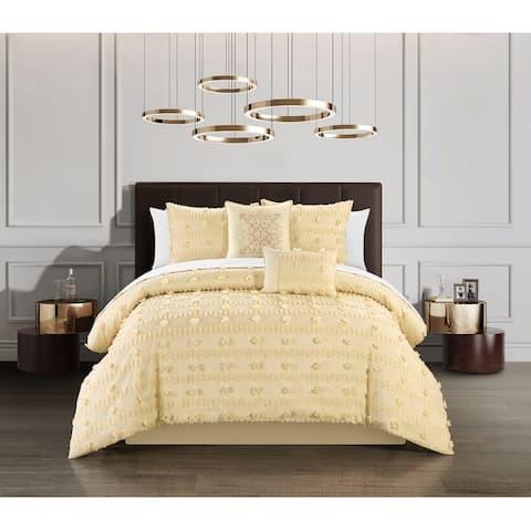 Chic Home Atisa 5 Piece Jacquard Applique Comforter Set