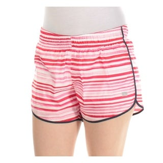 Womens Red Striped Active Wear Short Size XL